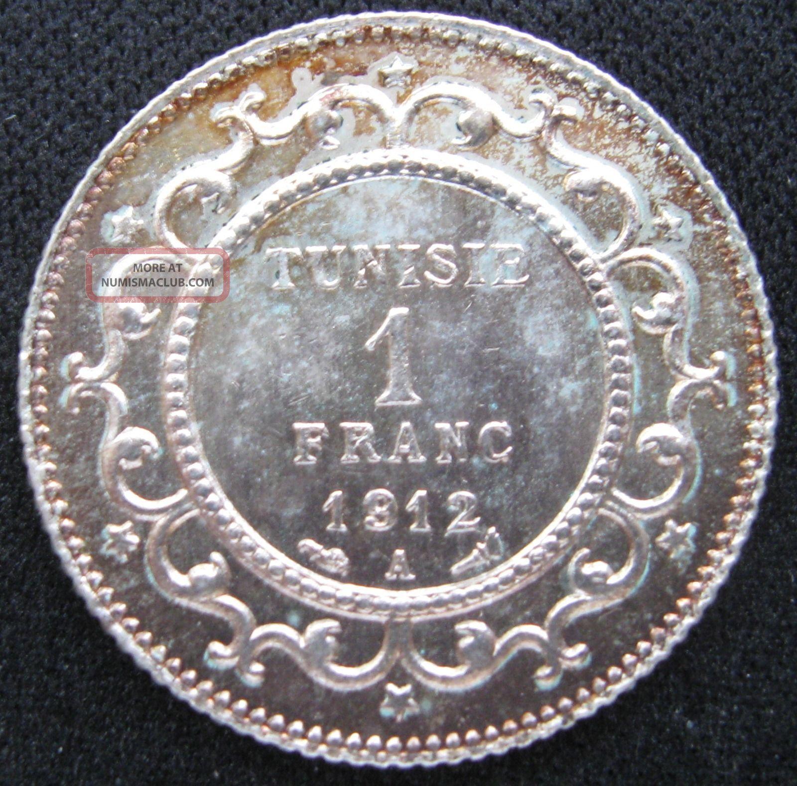 Tunisia Under France 1 Franc 1912 Sharp Bu