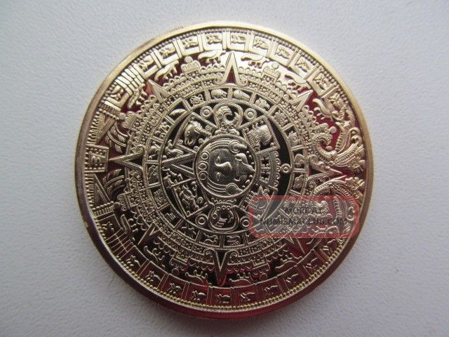 The Mayan Calendar Quot Coin Aztec 24k Gold Plated