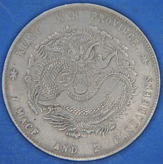 1901 China Kiangnan Kiang Nan Province Dragon Dollar $1 Silver Coin photo