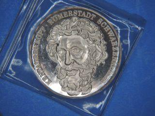1978 Hamburg Saar Kentaurenkopf Romerstadt Schwarzenacker.  986 Fine Silver Medal photo