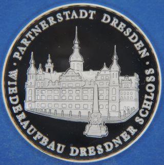 Partnerstadt Dresden Freie Und Hansestadt Hamburg Germany 999 Solid Silver Medal photo