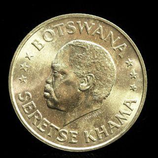 Botswana Silver 50 Cents Nd (1966) B Independence/sir Seretse Khama Choice Bu photo