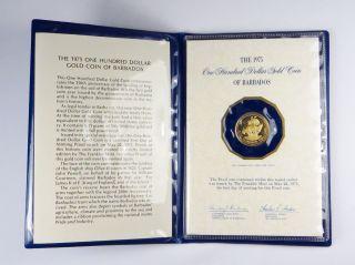 Barbados $100 Gold Coin