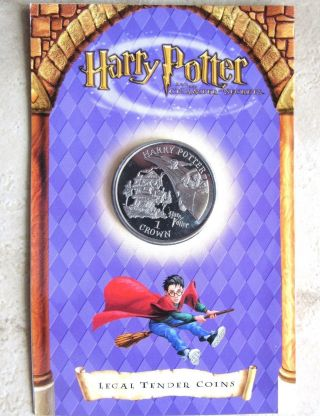 Isle Of Man 2002 1 Crown Harry Potter: Flying Car,  Bu In Coin Cover photo