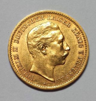 1907 - A Germany 10 Mark Gold 1c Start.  1152 Agw photo