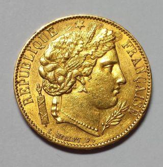 1850 - A France 20 Franc Gold 1c Start photo