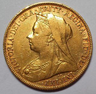 1897 - M Australia Gold Sovereign 1c Start photo