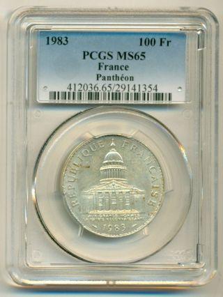 France Silver 1983 100 Francs