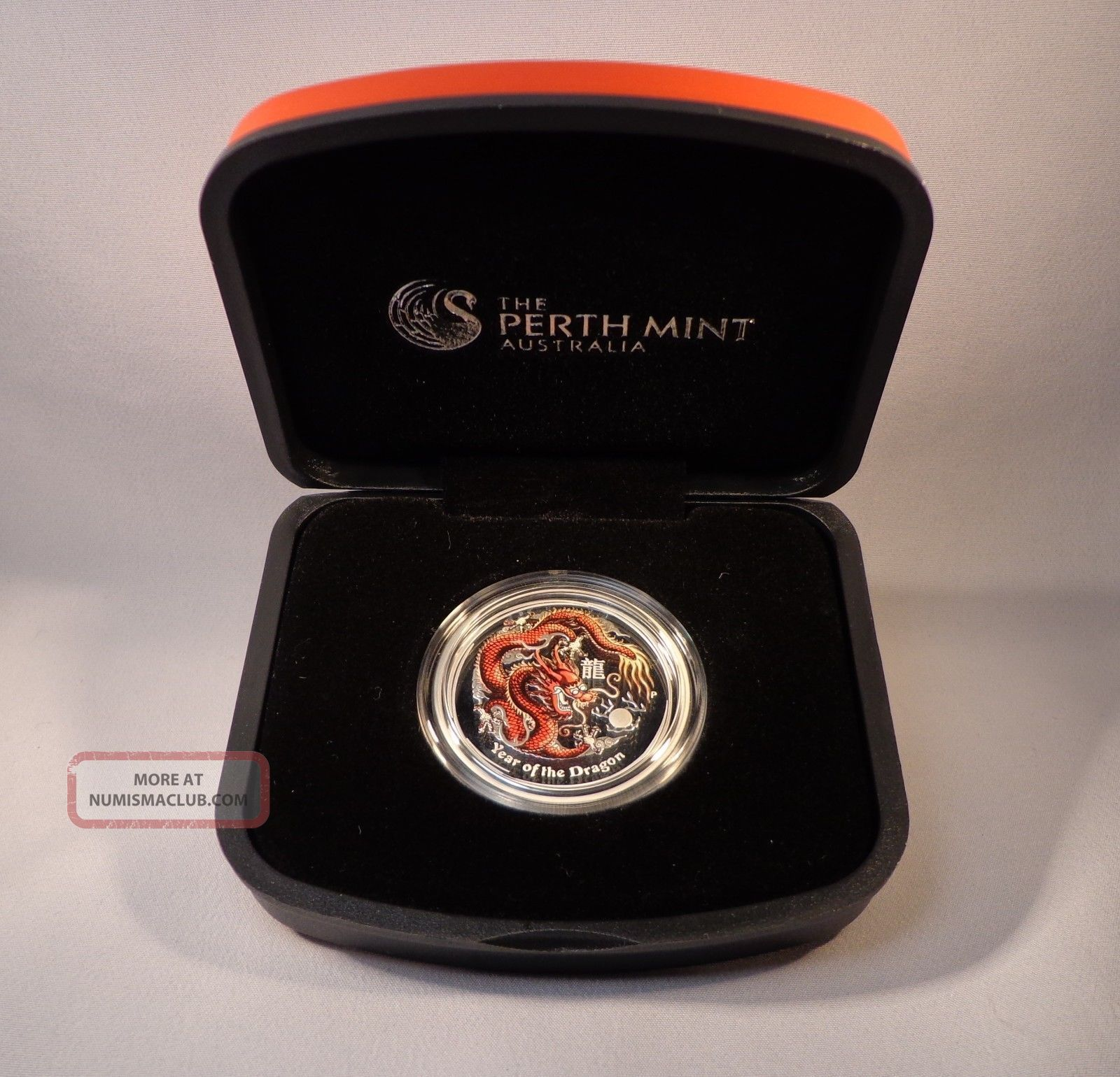 Perth Australian Lunar Year Dragon 2012 Silver 1/2 Oz Colored Proof Coin S2 Coins: World photo