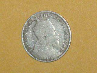 Ethiopia - Ee 1895 (1902 - 1903) A Gersh - Km 12 - 83.  5 Silver photo