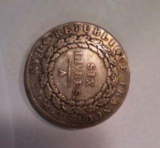 1793 French Coin France Revolution Era Christmas Gift photo