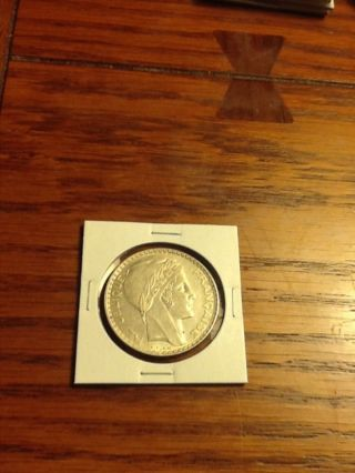 1938 France 20 Francs Silver Coin photo