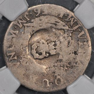 (1758) Ngc Ag3 Jamaica 10 Pence Gr Countermarked On 1756 Peru Real Rare photo