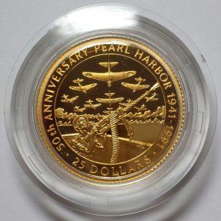 1991 Solomon Islands $25 Gold Proof.  2508 Agw photo