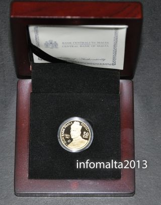 2011 Malta Dun Karm €50 Gold Coin Proof And Certificate photo