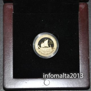2011 Malta Phoenicians €50 Gold Coin Proof Certificate Europa photo
