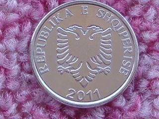 Albania 5 Leke 2011.  Variety With Different Typography. photo