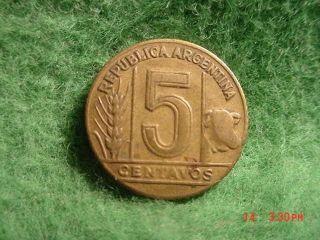 1947 5 Centavos,  Argentina,  Very Good photo