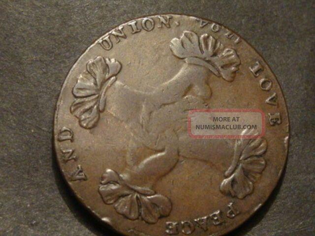 Listed As Rare John Hands Sheffield Halfpenny 1794 A15