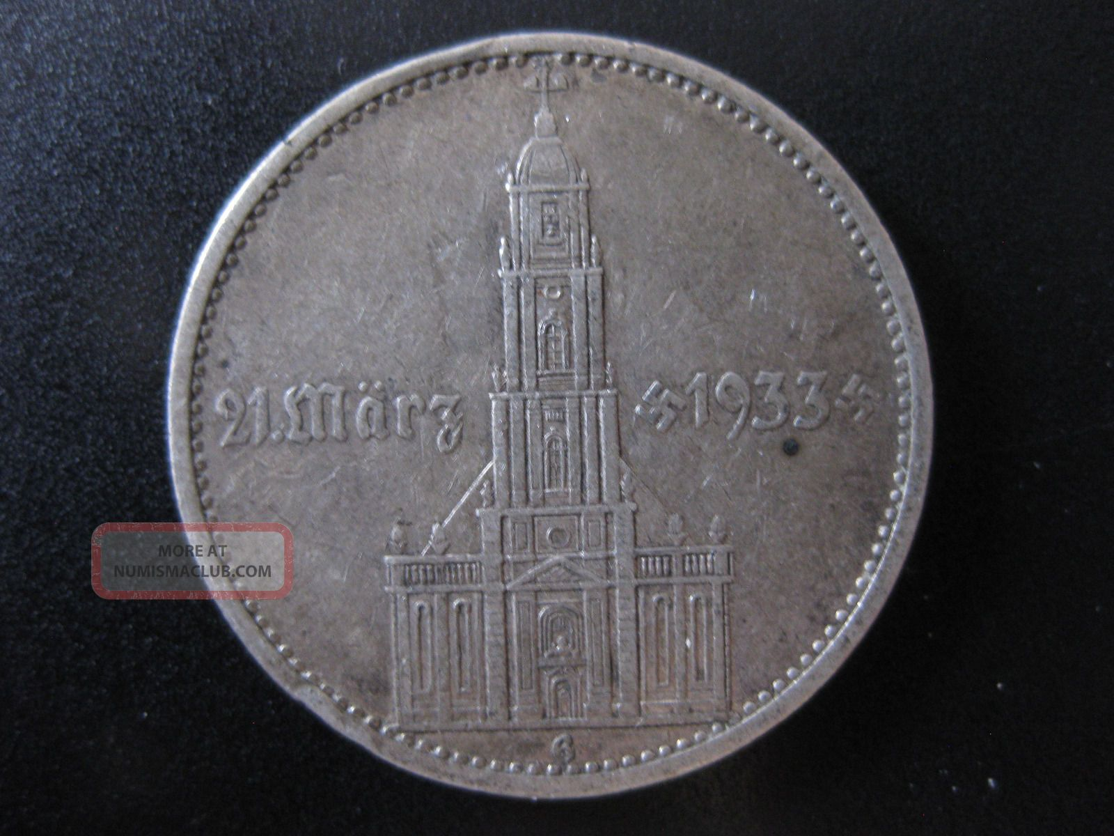 Germany: Third Reich 1934g 5 Reichmark 1st Anniversary – Nazi Rule,  With Date Germany photo