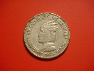 Honduras 50 Centavos,  1973,  F.  A.  O.  Chief Of The Lempira photo