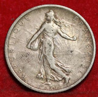 1904 France 1 Franc Silver Foreign Coin S/h photo