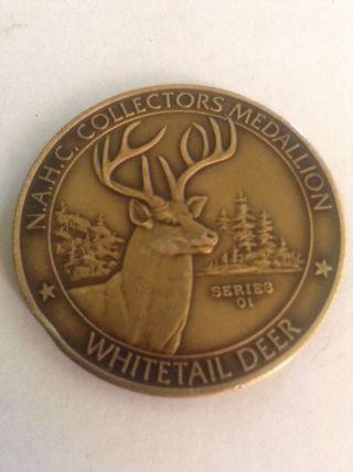 Nra N.  A.  H.  C.  Collectors Medallion,  Whitetail Deer Animal Wildlife,  Token photo