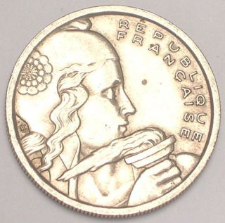 1954 France French 100 Francs Liberty Head Coin Xf photo