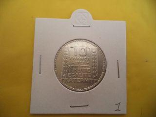 Rare France 10 Francs 1929 Silver Coin photo