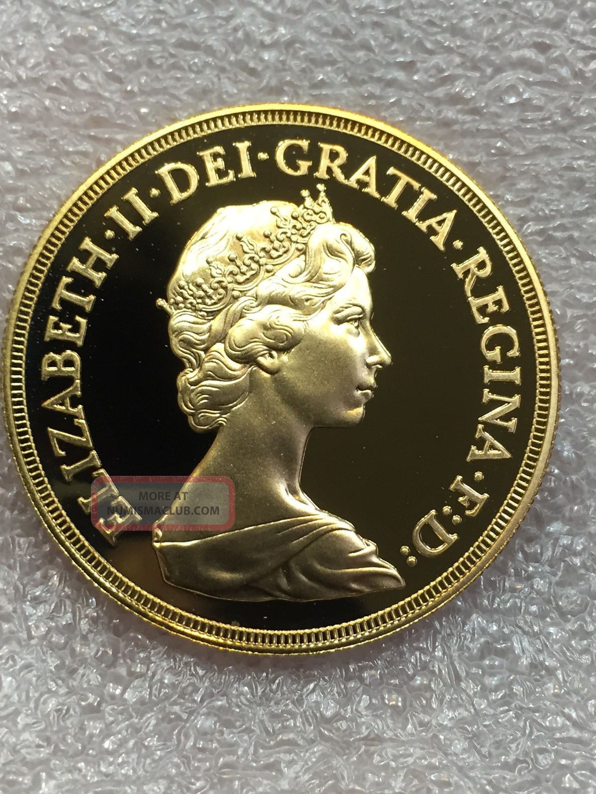 1984 United Kingdom Proof Five 5 Pound Sovereign Gold Coin Lstg 5