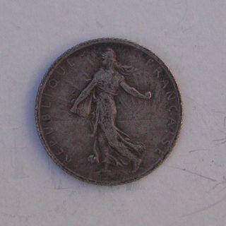 1912 France 1 Franc Silver Coin Bullion Not Scrap Junk photo