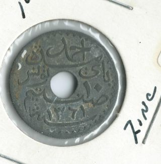10 Centimes 1942 Tunisia Protectorat Français French Coin Tunisie photo