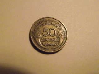 786 France; 50 Centimes 1940 photo