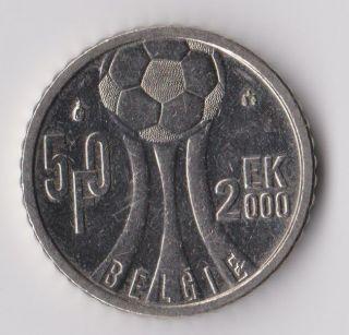 Belgium 50 Frank 2000 Soccer European Championship Rare And photo