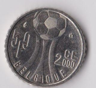 Belgium 50 Francs 2000 Soccer European Championship Km 213.  1 Rare And photo