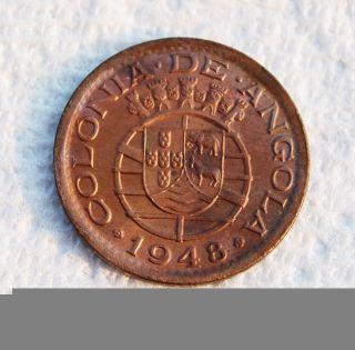 Angola,  Portuguese Colony,  20 Centavos,  1948,  Bronze,  Unc. photo