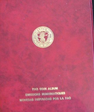 1968 Fao Coin Album; Food,  Employment And Education For A Growing World Populat photo