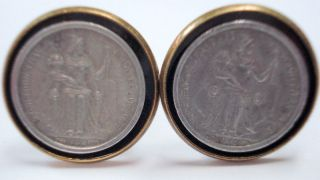 Caledonia - 50 Centimes Coin On Brass - Plated Cufflinks - 1949 photo