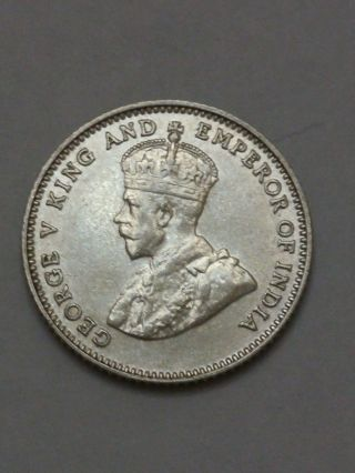 Straits Settlements 10 Cents,  1927,  Ef,  Or Better photo