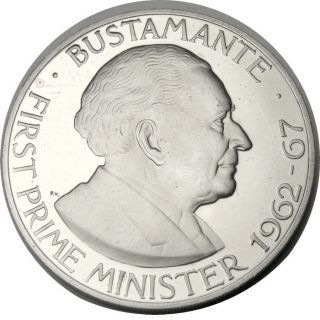 Elf Jamaica 1 Dollar 1970 Proof Bustamante photo