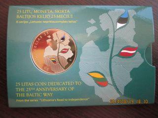 Lithuania 25 Litai 2014