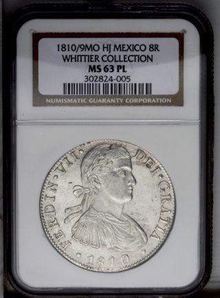 1810/09 8 Reales,  Ferdinand Vii,  Mexico,  Mo - Hj,  Km110,  Ngc Ms63 Pl,  Very Rare photo