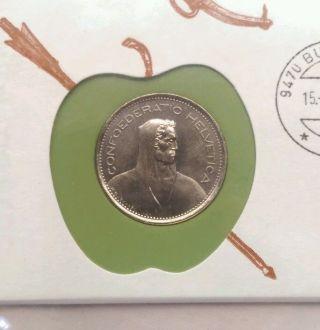 1973 Brilliant Uncirculated Swiss 5 Francs photo