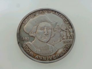 1992 Discovery Of America 500th Anniversary Silver Coin photo