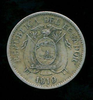 Ecuador 1919 5 Centavos (copper - Nickel) photo
