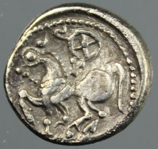 Celtic,  Drachm,  Silver,  Horse,  Rider,  Philipp Ii,  East Europe,  2.  Century B.  C. photo