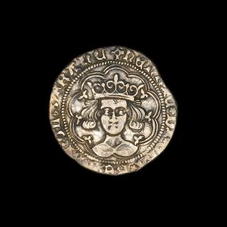 English Medieval Silver Groat Coin Of King Henry Vi - 1422 Ad photo