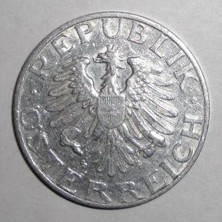 1947 Austria 2 Schilling,  Eagle Coin photo