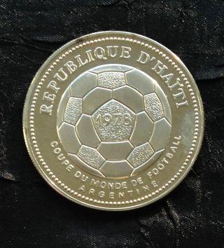 Haiti 50 Gourdes Silver Proof,  1977 photo