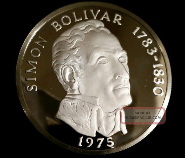 1975 Panama 20 Balboa Silver Proof Rare Low Mintage Coin Uncirculated Coins: World photo